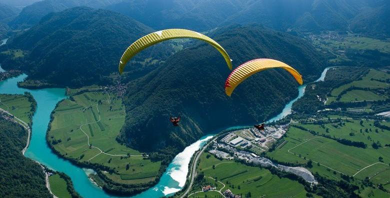 PARAGLIDING - odvažite se na adrenalinski let s instruktorom u nebeskim visinama s pogledom na veličanstvene prizore od kojih zastaje dah od 999 kn!