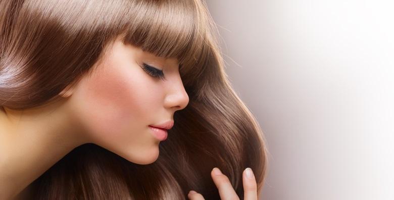 Pramenovi ili bojanje uz šišanje, njegu maskom i fen frizuru