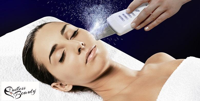 Čišćenje lica ultrazvučnom špatulom i oblikovanje obrva