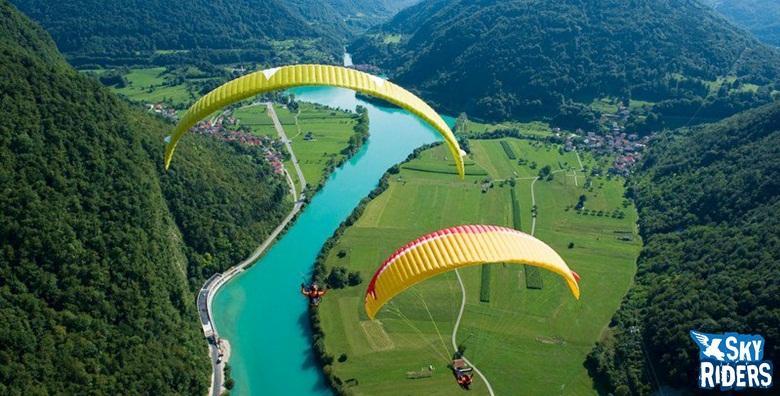 [PARAGLIDING] Adrenalinski let u tandem letjelici s instruktorom uz gratis snimku leta, majicu i piće dobrodošlice za 725 kn!