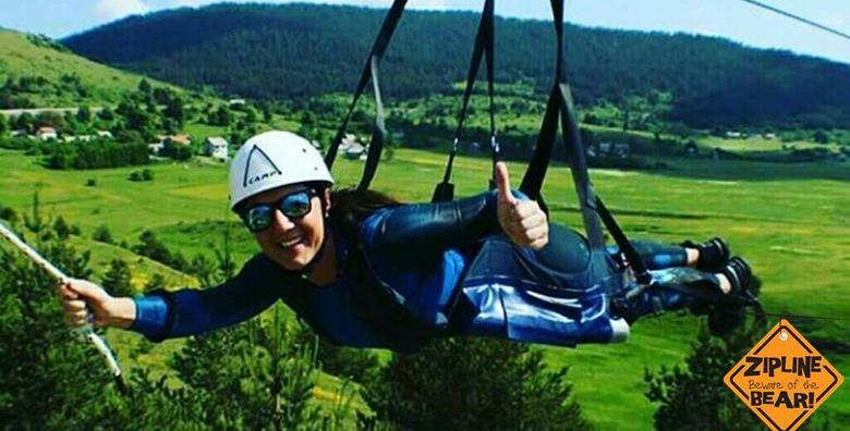 [ZIPLINE] Poletite brzinom do 120km/h na najdužem ziplineu u Europi uz 45 minuta penjanja na umjetnu stijenu s instruktorom za 169 kn!