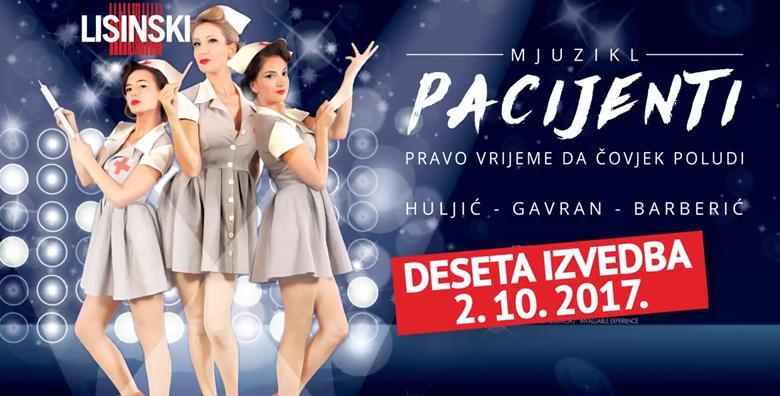 Mjuzikl Pacijenti - ulaznica za 2.10. u Lisinskom