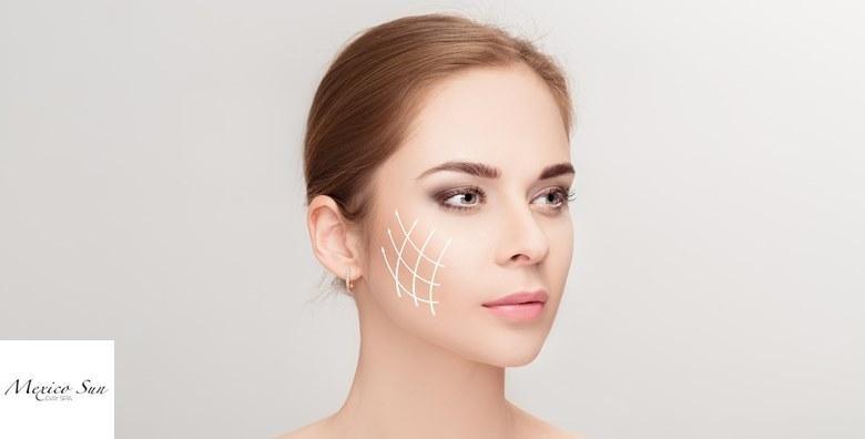 Dijamantna mikrodermoabrazija s dijatermijom, Renovar tretman hijaluronom uz serum protiv bora i čišćenje lica u Mexico Sun studiju za 199 kn!