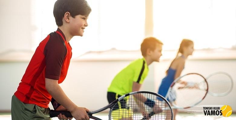 POPUST: 63% - ŠKOLA TENISA Mjesec dana treninga na Trešnjevci za djecu 6 - 12 godina uz trenere magistre kineziologije i uključenu opremu za samo 149 kn! (Teniski klub Vamos)