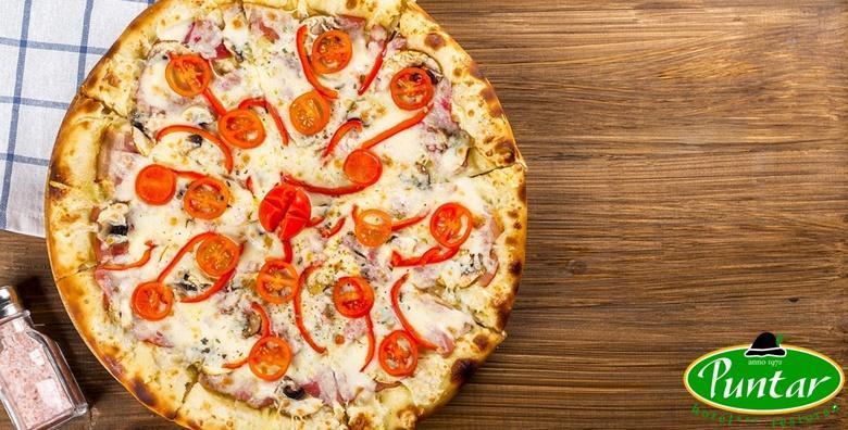 Jumbo pizza u restoranu Puntar u Gornjoj Stubici