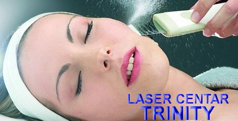 Čišćenje lica ultrazvučnom špatulom i maska za lice
