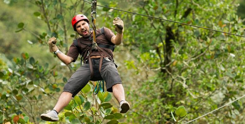 Adrenalinski park - zipline, penjanje na stijenu, poligon