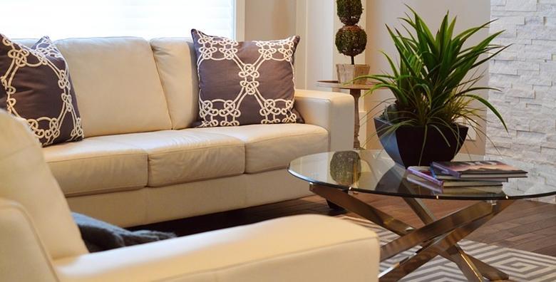 Čišćenje L kutne garniture ili trosjeda, dvosjeda i fotelje