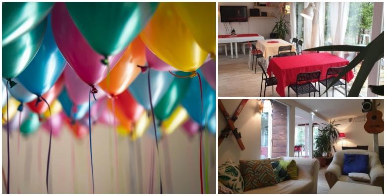 Ponuda dana: DJEČJI ROĐENDAN Najam kuće Party house - 2h proslave za 15 djece uz pinjatu punjenu slatkišima, 2 animatora, light show, tematske igre za 680 kn! (Party House - Novi Zagreb)