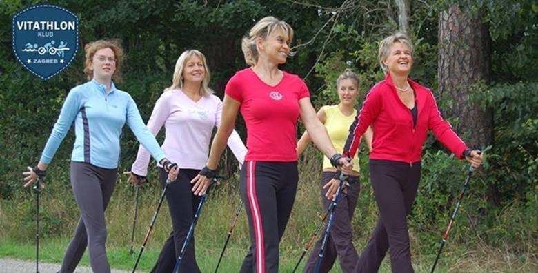 Vitathlon express - kombinacija nordijskog hodanja, jogginga, HIIT treninga za 450 kn!