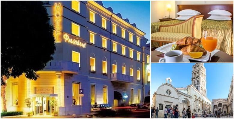 SPLIT - opuštajući odmor u centru grada uz 2 ili 3 noćenja s doručkom za 2 osobe + gratis smještaj za djecu do 6 godina u Hotelu President Split 4* od 1.090 kn!
