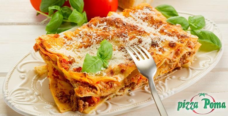 Lazanje - 2 obilne porcije u Pizzeriji Poma za samo 59 kn!