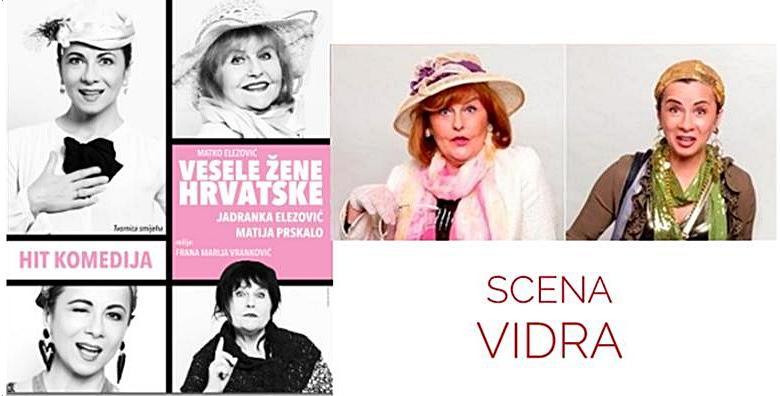 Predstava Vesele žene Hrvatske 24.1. u Kazalištu Vidra