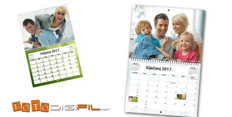 Fotokalendar dimenzija 30 x 45 cm s 24 stranice za 92 kn!