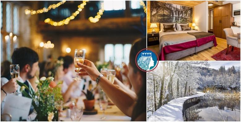 Nova godina na Plitvicama - dočekajte 2020. u okružju bajkovite prirode i zabavite se uz svečanu večeru u 5 sljedova i živu muziku za 1.340 kn!