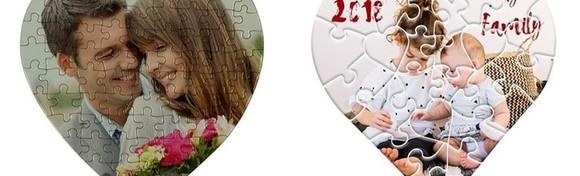 Puzzle u obliku srca s fotografijom po izboru - razveselite dragu osobu personaliziranim darom za samo 39 kn!