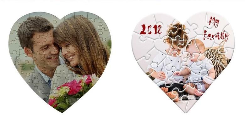 POPUST: 68% - Puzzle u obliku srca s fotografijom po izboru - razveselite dragu osobu personaliziranim darom za samo 39 kn! (Web shop Lisica)