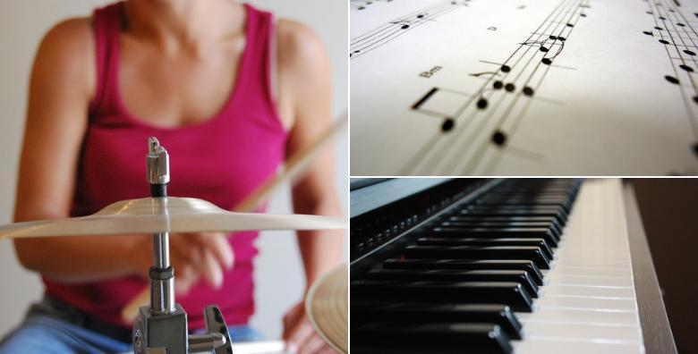 Tečaj bubnjeva ili klavijatura u trajanju 16 šk. sati za 396 kn!