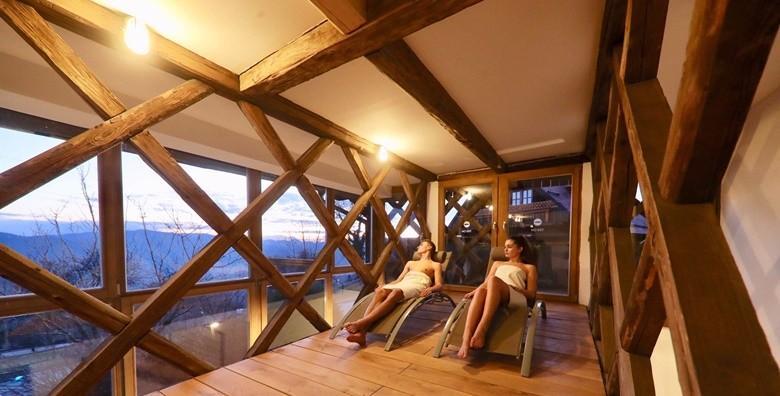 Ponuda dana: NA ŠKALUC Privatno korištenje panoramskog wellnessa uz smještaj u kućici na drvetu ili autohtonoj drvenoj kući - 1 ili 2 noćenja za dvoje od 880 kn! (Na Škaluc***)