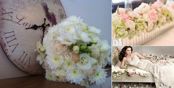 Vaucher za cvjetnu dekoraciju vjenčanja ili vjenčani buket