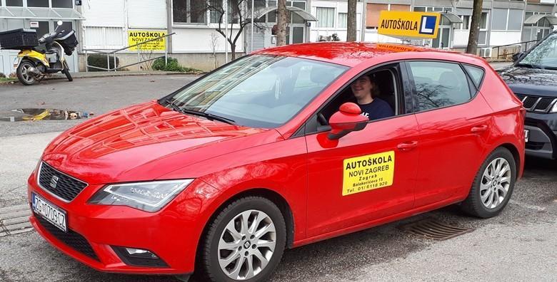 Ponuda dana: AUTOŠKOLA Osposobljavanje za vozača B kategorije uz 35 sati vožnje i 30 sati predavanja - vozački po super cijeni za 4.995 kn! (Autoškola Novi Zagreb)