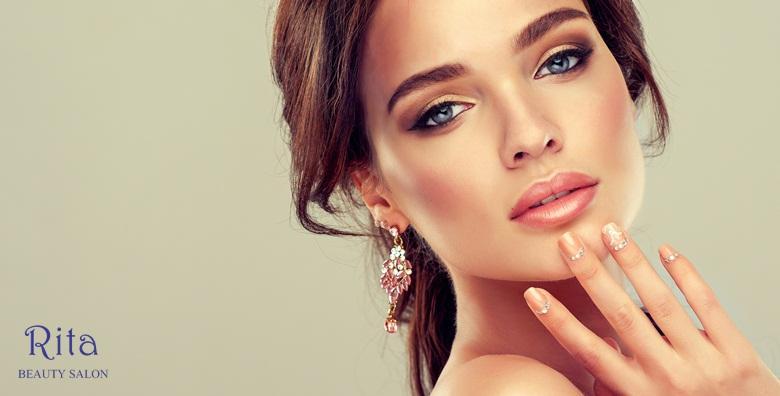 POPUST: 50% - Manikura s lakiranjem i profesionalno šminkanje - njegovane ruke i nokti te dnevni make up - sve što žena treba za 115 kn! (Frizerski salon Rita)