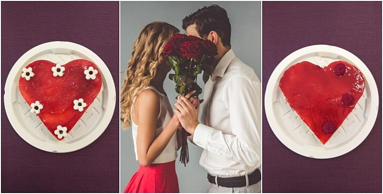 Torta u obliku srca - slatki poklon prigodan za sve proslave za samo 49 kn!