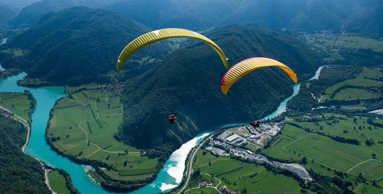 PARAGLIDING – odvažite se na adrenalinski let s instruktorom u nebeskim visinama s pogledom na veličanstvene prizore od kojih zastaje dah od 1.249 kn!