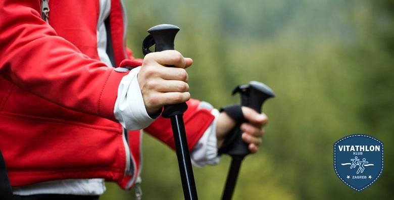 POPUST: 34% - NORDIJSKO HODANJE Ovladajte tehnikom hodanja koja čuva dobru liniju, jača cirkulaciju i produžuje život - jednodnevni tečaj za 99 kn! (Vitathlon društvo za sportsku rekreaciju)