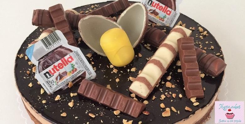 Čoko bomba - ferrero torta obogaćena čokoladicama uz dostavu za 199 kn!
