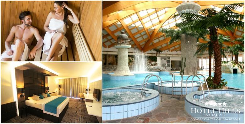 Ponuda dana: SARAJEVO, HOTEL HILLS 5* Opustite se u termalnoj rivijeri Ilidža, najvećem termalnom kompleksu u regiji! 2 noćenja s doručkom za 2 osobe od 1.404 kn! (Hotel Hills*****)