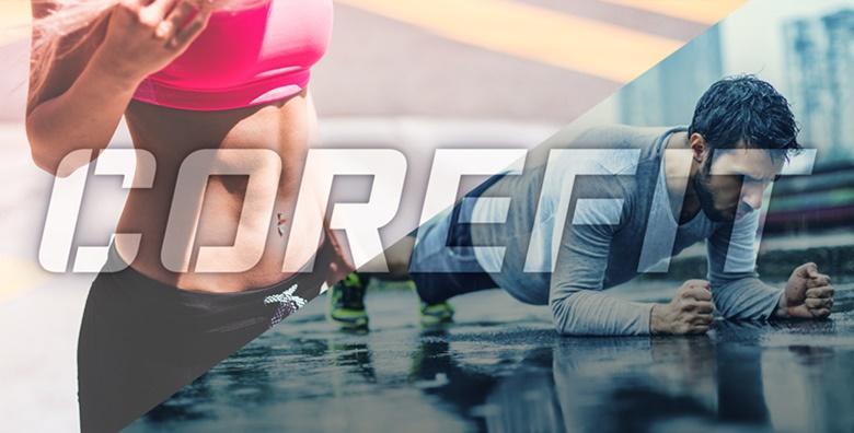 POPUST: 50% - GRUPNI TRENING Mjesec dana vježbanja - program po izboru 3x tjedno za 125 kn! (Corefit)