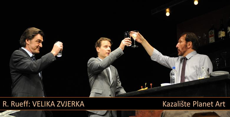 POPUST: 33% - Predstava Velika zvjerka u kazalištu Mala scena - saznajte što je biznis i koja je tajna uspjeha uz Marka Torjanca, Slavka Jarugu i Luku Dragića! (Mala scena)