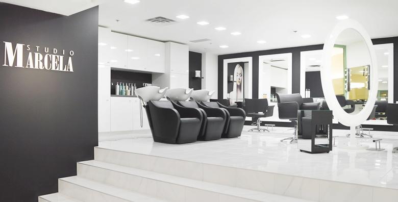 POPUST: 41% - Pramenovi ili bojanje uz pranje kose, preljev, šišanje, frizuru, hranjivu masku i masažu vlasišta u Studiju Marcela u Importanne Galleriji od 249 kn! (Studio Marcela)
