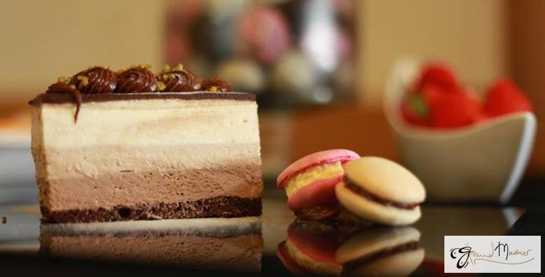 Ponuda dana: Velika torta po izboru - Sacher, Ledeni vjetar, ABC Cheesecake sa šumskim voćem, Bounty-kokos ili torta s 3 vrste čokolade po odličnoj cijeni za 199 kn! (Slastičarnica Grand Marnier)
