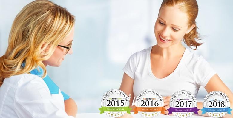 POPUST: 44% - ORDINACIJA BELAK Kompletan ginekološki kod doktorice s titulom NAJDOKTOR za 2015., 2016., 2017. i 2018. godinu prema izboru pacijentica! (Ginekološka ordinacija Dr. Snježana Belak)