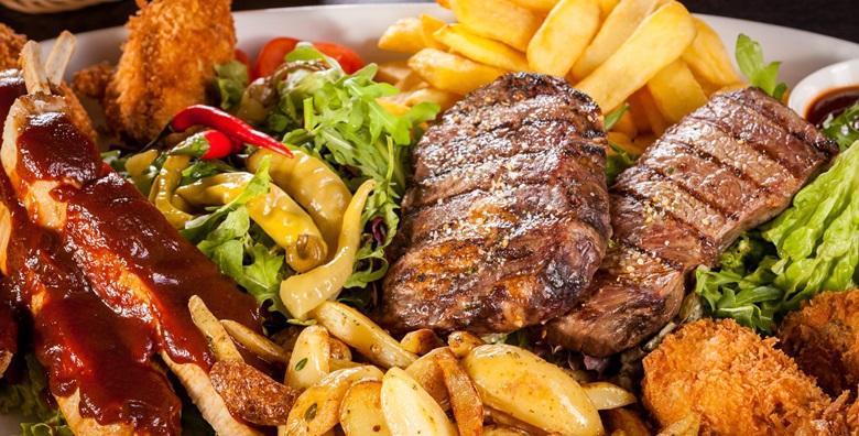 Bogata mesna plata za dvoje - uživajte u čak 5 vrsta mesa, krumpiru i kroketima za 79 kn!