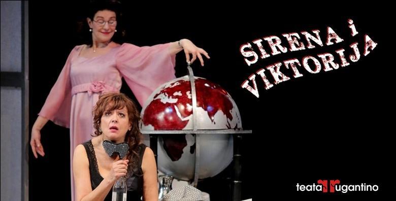 """Ponuda dana: NOVA PREDSTAVA """"SIRENA I VIKTORIJA"""" Smijte se grohotom i sjajno se zabavite u Lisinskom 11.4. uz ovu raskošnu komediju zabune (Koncertna dvorana Vatroslava Lisinskog)"""