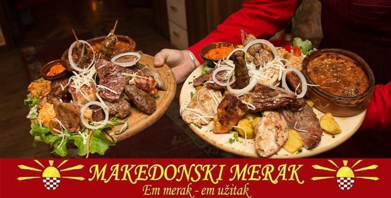 POPUST: 50% - MAKEDONSKI RESTORAN Uživajte u tradicionalnim makedonskim okusima uz bogati meni za 4 osobe i živu muziku - garantirano dobra zabava za 159 kn! (Makedonski Merak)