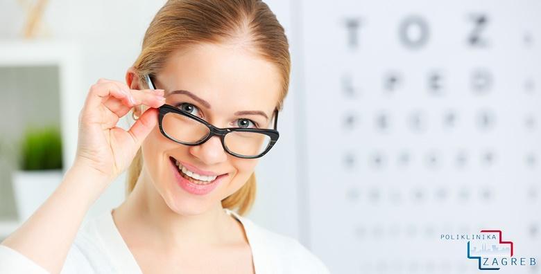 POPUST: 43% - Kompletan oftalmološki pregled uz mjerenje očnog tlaka, određivanje dioptrije, širenje zjenica i pregled biomikroskopom za 199 kn! (Poliklinika Zagreb)