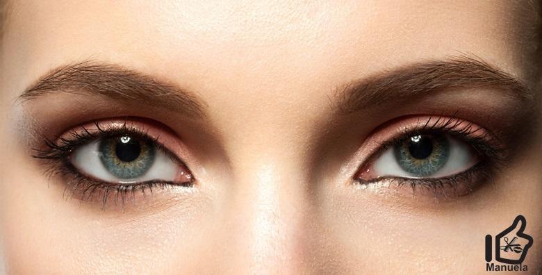 POPUST: 31% - THREADING OBRVA Najpreciznija metoda oblikovanja obrva koja zahvaća i najkraće dlačice, s ili bez bojanja obrva u Studiju ljepote Manuela već od 55 kn! (Studio ljepote Manuela)