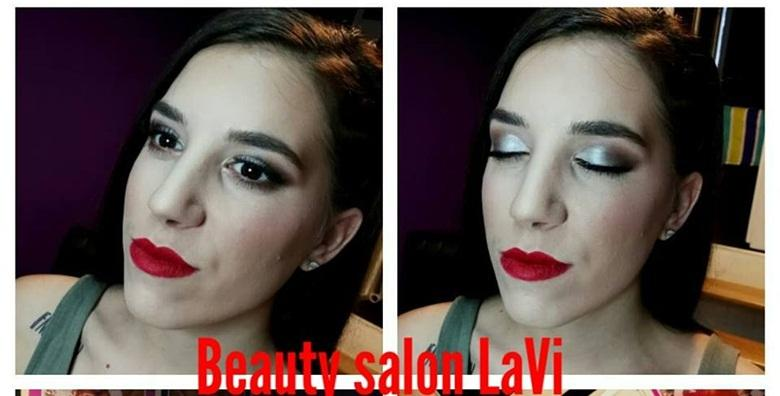 POPUST: 60% - Profesionalno šminkanje vrhunskom NYX, Revolution i Loreal kozmetikom uz jednokratne trepavice - upotpunite svečani look glamuroznom šminkom za 99 kn! (Pretty nails beauty salon LaVi)