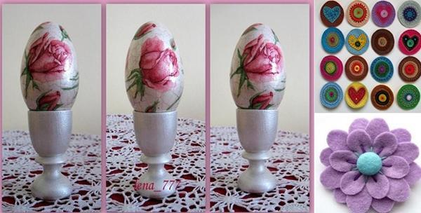 Decoupage tehnika oslikavanja jajeta i izrada broševa