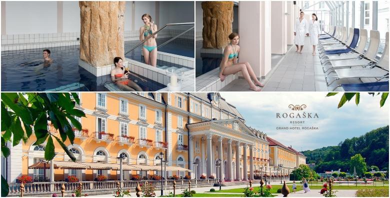 POPUST: 34% - ROGAŠKA RESORT Wellness čarolija u Grand Hotelu Rogaška 4* - 2 noćenja s polupansionom za dvoje uz uživanje u termalnom bazenu, whirlpoolu i saunama! (Grand hotel Rogaška 4*)