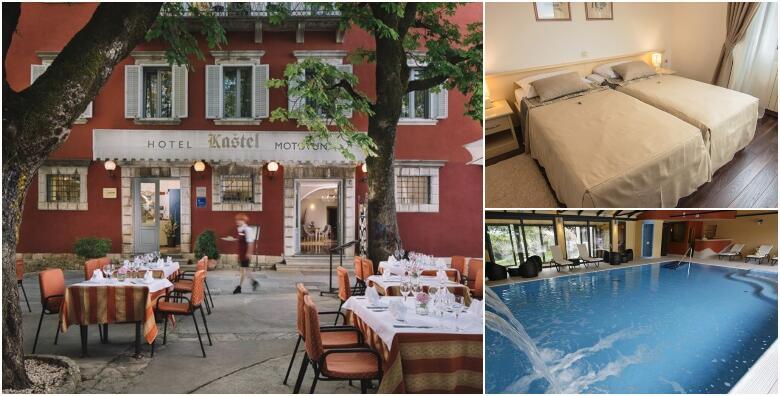 Romantični odmor u Motovunu - 2 noćenja s polupansionom za dvoje + gratis smještaj za 1 dijete do 2 godine u Hotelu Kaštel 3* uz korištenje wellnessa, saune i bazena za 1.650 kn!