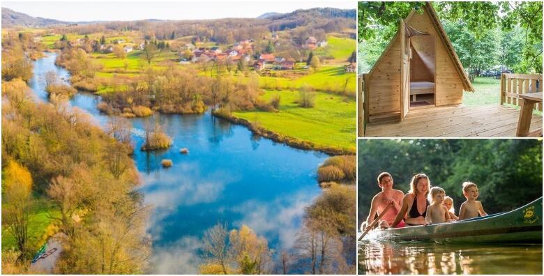 Kamp Slapić 4* - 4 noćenja za dvoje u srcu prirode uz večeru i korištenje kanua za 1.490 kn!