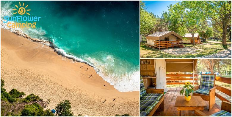 Ponuda dana: GLAMPING Luksuzno kampiranje u Savudriji za do 5 osoba kroz CIJELU SEZONU! Smještaj u kampu Sunflower 3* tik do 1.800 m duge plaže već od 703 kn! (SunFlower camping 3*)