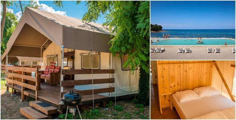 POPUST: 34% - GLAMPING U ISTRI - luksuzno kampiranje u Novigradu za 5 osoba, 1 ili više noćenja u potpunom opremljenom šatoru tik do mora uz korištenje bazena od 440 kn! (SunFlower camping 4*)