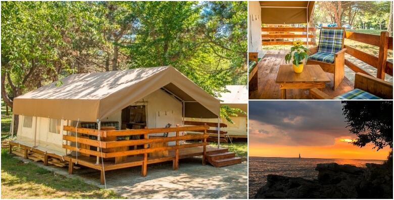 GLAMPING LJETOVANJE - luksuzno kampiranje u Savudriji uz 1 ili više noćenja za do 5 osoba u potpuno opremljenom šatoru u blizini mora od 389 kn!