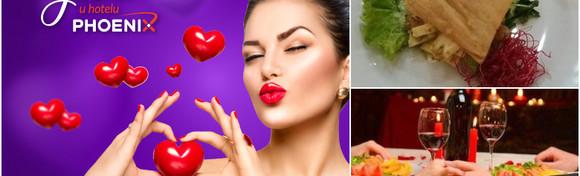 Valentinovo u Hotelu Phoenix - uđite u mjesec zaljubljenih uz valentinovsku večeru za dvoje u više sljedova i prigodni zabavni program za 290 kn!